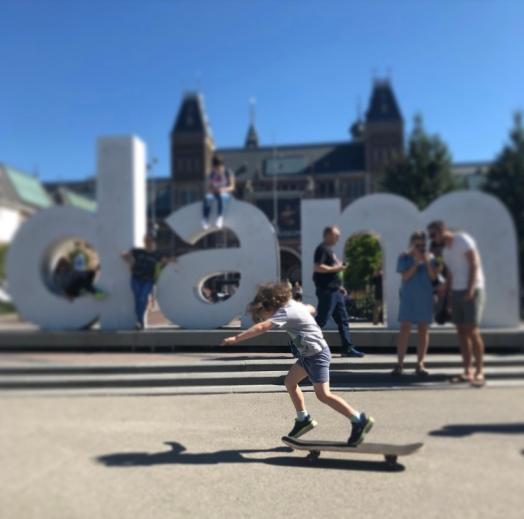 skateboarding baby